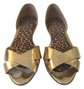Banana Republic Metallic Sandals Gold Flats