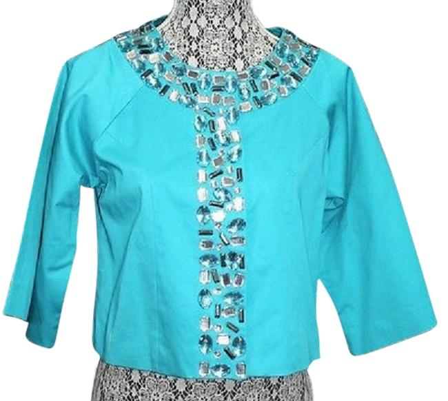 Preload https://item3.tradesy.com/images/jewel-trimmed-aqua-sport-cropped-cotton-blend-m-blouse-size-8-m-3327202-0-0.jpg?width=400&height=650