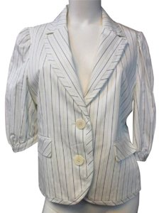 BCBGMAXAZRIA Stripes Buttoned Top