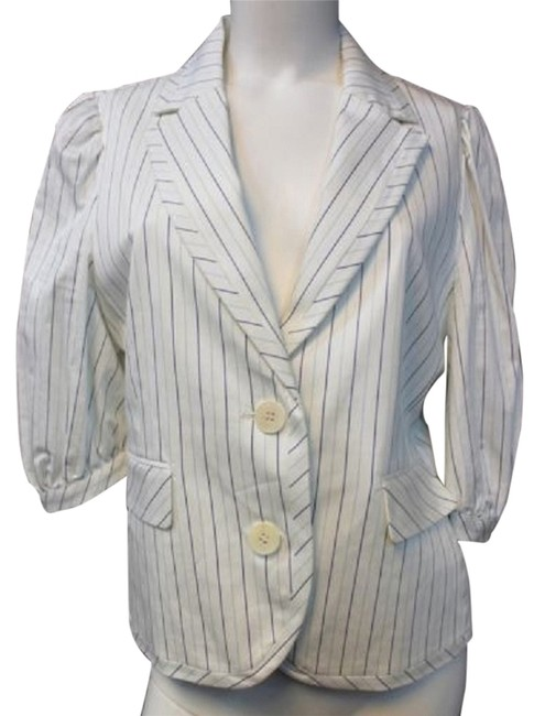 Preload https://item3.tradesy.com/images/bcbgmaxazria-striped-buttoned-l-blouse-size-12-l-3327262-0-0.jpg?width=400&height=650