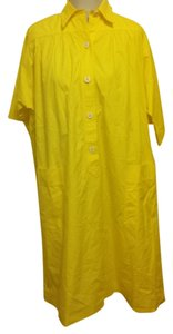 Céline short dress Yellow on Tradesy