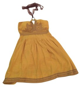 Sisi short dress Yellow on Tradesy