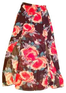 Liberty Love Chiffon Floral Slit Maxi Maxi Skirt multicolor