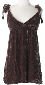 Juicy Couture Velvet Silk Silver Dress