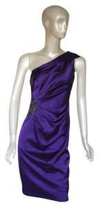 David Meister Purple Satin Dress