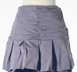 Odille Tiered Ruffle Mini Skirt Purple