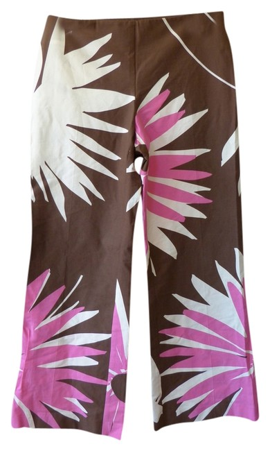 Trina Turk Bohemian Hem Los Angeles Flare Pants Brown