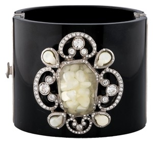 Chanel Chanel Pearl Pave Crystal Cuff Bracelet