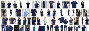 Gateway 16 sets of Navy Blue Medical Scrub Uniforms pants and short sleeve Tops