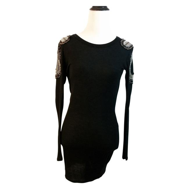 Torn by Ronny Kobo Bodycon Studded Mini Dress Image 1