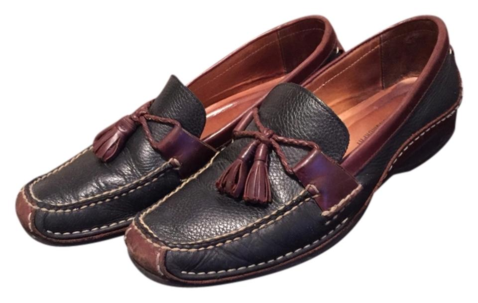 bca2f63d267 Johnston   Murphy Black Brown Mens Two Tone Leather Loafers Formal Shoes.  Size  US ...