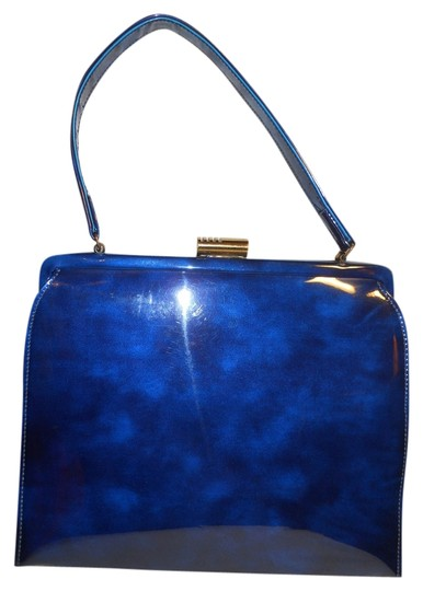 Preload https://img-static.tradesy.com/item/3329359/vintage-blue-patent-leather-satchel-0-0-540-540.jpg