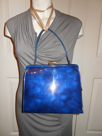 Theodor California Vintage Satchel in blue Image 1