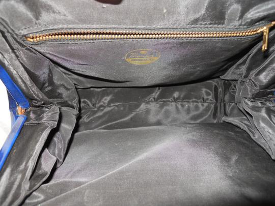 Theodor California Vintage Satchel in blue Image 6