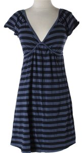 Ella Moss short dress Black / Grey Striped Open Back on Tradesy