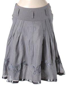 Oilily Embroidered Flowy Skirt Grey / Silver
