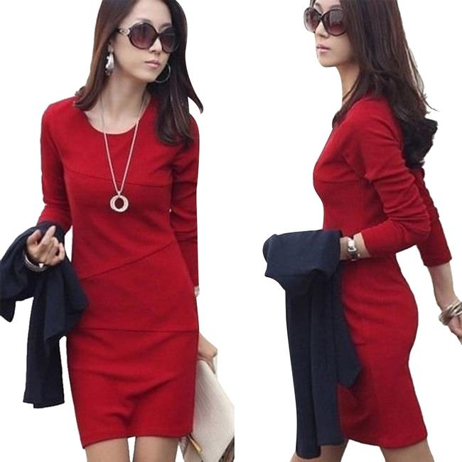 Preload https://item5.tradesy.com/images/red-new-sexy-mini-sleeve-slim-ol-pencil-above-knee-workoffice-dress-size-8-m-3329599-0-0.jpg?width=400&height=650