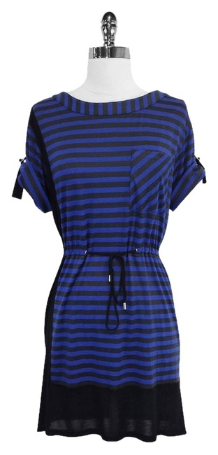 Preload https://item2.tradesy.com/images/karen-millen-black-and-blue-striped-sleeves-mid-length-short-casual-dress-size-2-xs-3329731-0-0.jpg?width=400&height=650