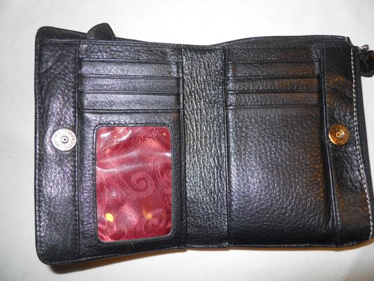 Brighton Brighton bi-fold croc embossed leather wallet