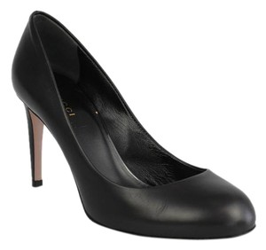 Gucci Leather Heel Black Pumps