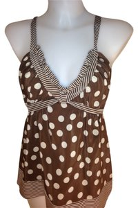 BCBGMAXAZRIA Brown & Beige Halter Top