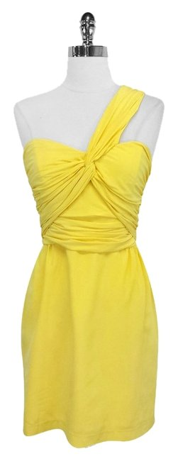 Preload https://item1.tradesy.com/images/mara-hoffman-yellow-silk-one-shoulder-mini-cocktail-dress-size-2-xs-3330460-0-0.jpg?width=400&height=650