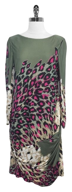 Preload https://item4.tradesy.com/images/tibi-olive-and-pink-leopard-print-silk-blend-mid-length-short-casual-dress-size-8-m-3330718-0-0.jpg?width=400&height=650