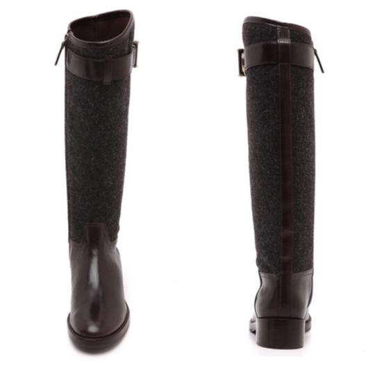 Tory Burch Riding Size 9.5 Leather grey/coconut Boots