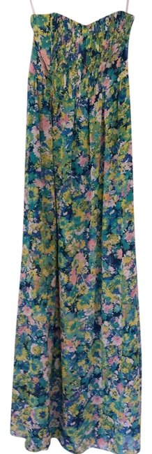 Multi - Floral Print Maxi Dress by Ark & Co. Brunch Date Night Wedding Party