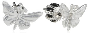 Juicy Couture Juicy Couture Butterfly Stud Earrings, Silver YJRU6443