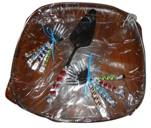 Other Bead-Wrapped Serving Set And Platter