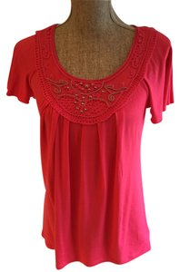 AGB Clothing Baby Doll Top Coral
