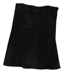 Axcess Suede Skirt Brown Leather
