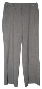 Liz Claiborne Trouser Pants Tan Plaid