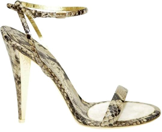 Salvatore Ferragamo Tan/Brown/Gold Sandals