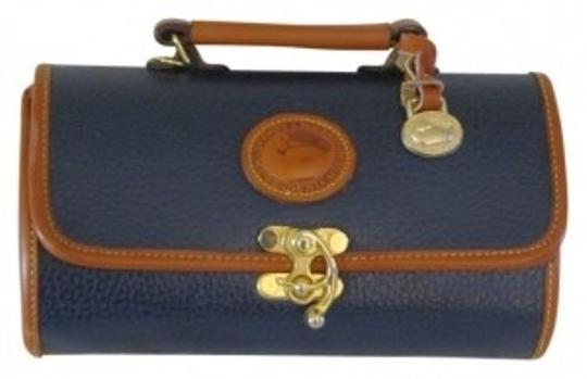 Preload https://item2.tradesy.com/images/dooney-and-bourke-vintage-navy-blue-with-brown-piping-sturdy-leather-shoulder-bag-33331-0-0.jpg?width=440&height=440