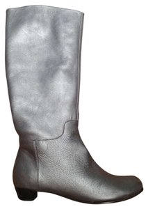 Farylrobin Metallic Knee-high Pewter Boots