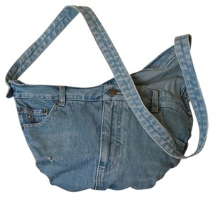 Marc Jacobs Jean Denim Hobo Cross Body Bag