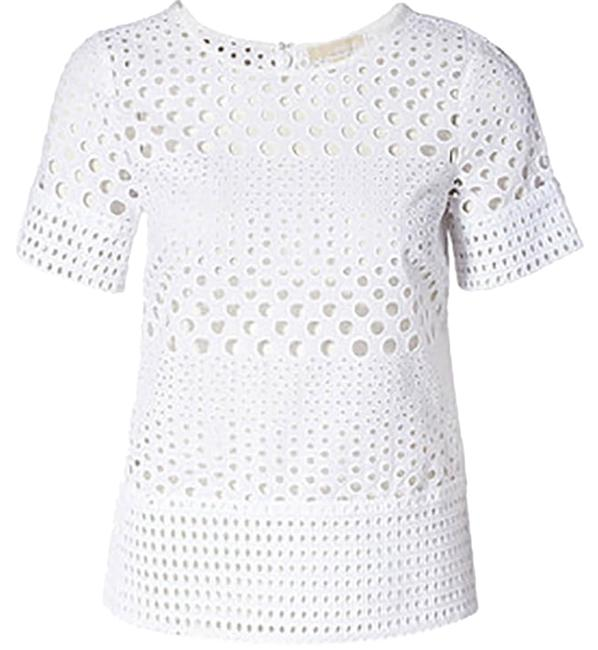 Michael Kors Eyelet Top White