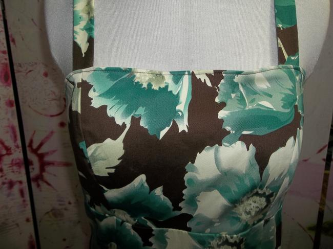 Madison Leigh Spaghetti Strap Shirring Lined Size 10 Floral Print Dress Image 1