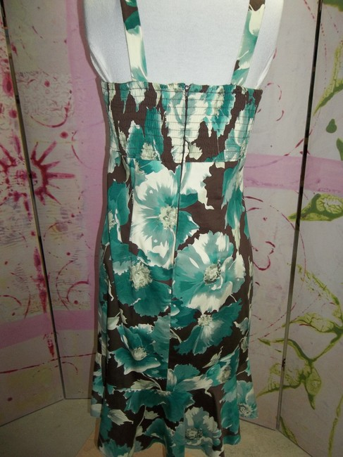 Madison Leigh Spaghetti Strap Shirring Lined Size 10 Floral Print Dress Image 3