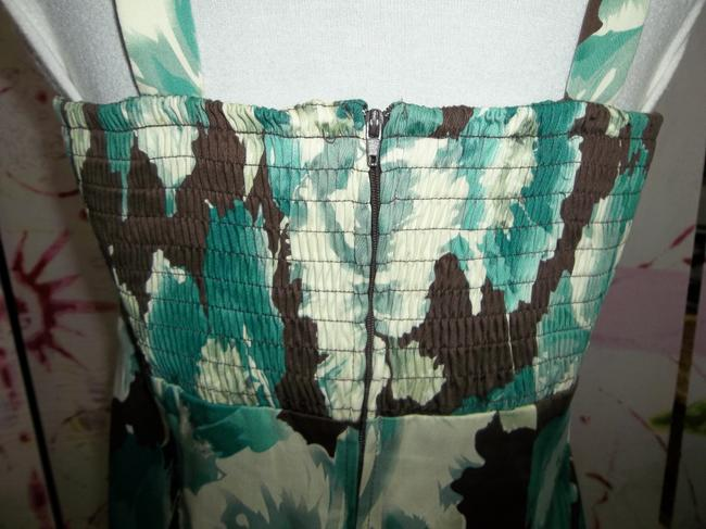 Madison Leigh Spaghetti Strap Shirring Lined Size 10 Floral Print Dress Image 4