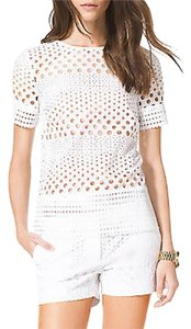 Michael Kors Eyelet Shorts White