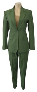 Iceberg ICEBERG WOMEN'S GREEN VIRGIN WOOL PANT SUIT SIZE 44/M ON SALE SK