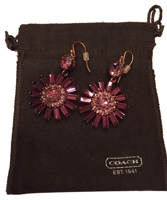Item - Rose Gold with Purple Stones And Earrings