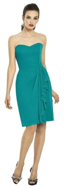 After Six Strapless Chiffon Green Dress