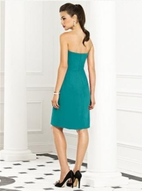After Six Strapless Chiffon Green Dress Image 1
