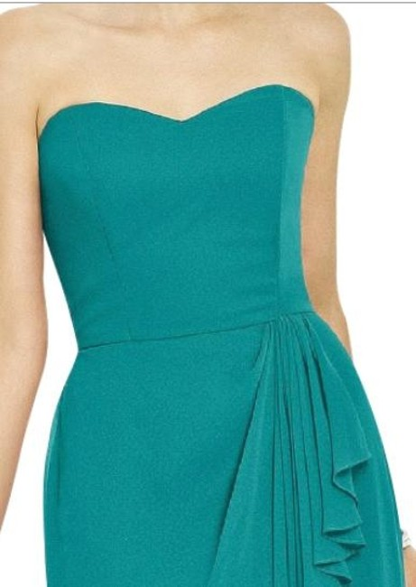 After Six Strapless Chiffon Green Dress Image 2