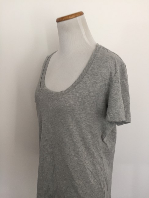 FRAME Scoop Neck T Shirt Grey