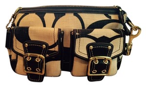 Coach Satchel in Dark brown and ivory
